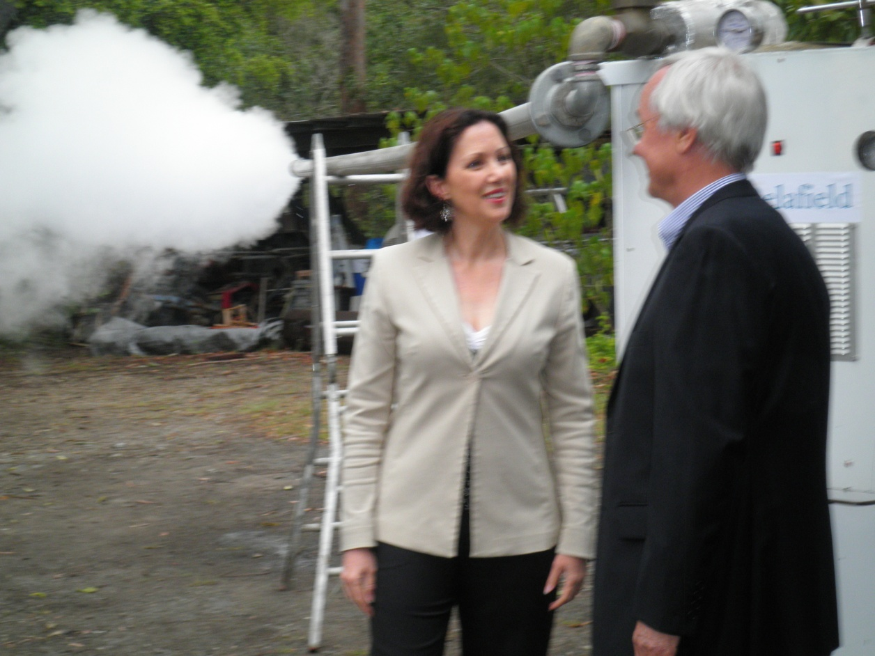 Minister Vicky Darling and Matthew Fox