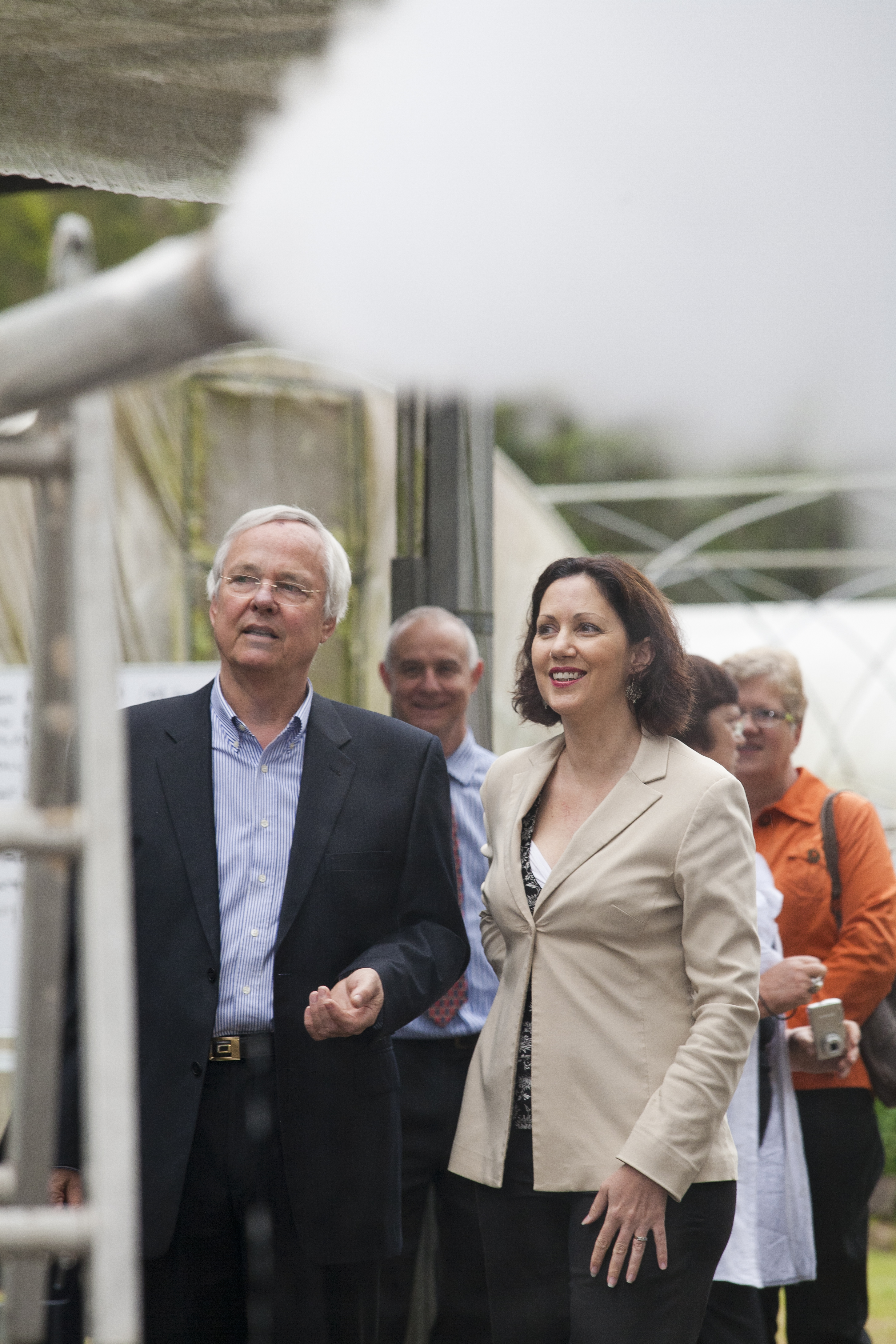 Matthew Fox and Minister for the Environment Mrs Vicky Darling